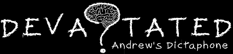 Devastated: Andrew's Dictaphone Logo